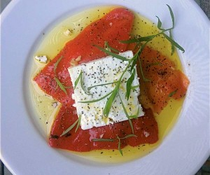 Roasted Red Pepper Caprese
